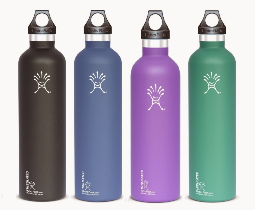 Stainless steel or glass water bottles are great BPA-free alternatives to plastic